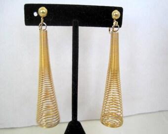 Spring Earrings Retro Gold Long Shoulder Dusters