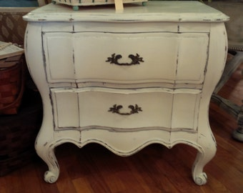 Painted Cottage French Provincial End Tables