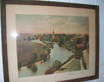Stratford on Avon ~ Framed Picture ~ Historic Birthplace of William Shakespeare