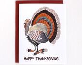 Thanksgiving Card - Holiday Card - Turkey Illustration Card