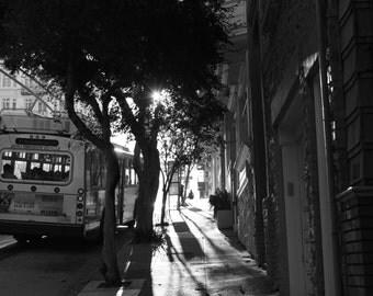 8x10 Muni Rush Hour Shadows, San Francisco CA