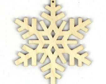 Crisp Winter - Laser Cut Wood Snowflake in Multiple Sizes and Quantity Discounts