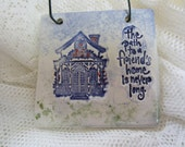 The Path to a Friend's Home Ceramic Tile Gift for Her Stocking Stuffer