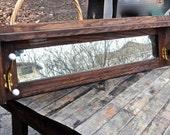 Mantle Mirror, Mantle Shelf, Furniture, Vintage Wooden Shelf, Coat Rack Organizer, Mudroom Entryway Cubby, Coat Hooks Shelf, Arts Crafts