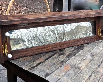Mirror, Mantle Mirror, Mirror with Hooks, Mantle Shelf, Furniture, Wooden Shelf, Coat Rack, Organizer, Mudroom Entryway, Arts Crafts, Foyer