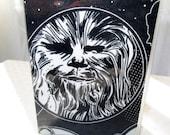 Star Wars Chewie Mini Wallet Gift Card Holder Business Card Holder Fabric Geek Techie Nerd Credit Subway Pass Vinyl Protector Chewbacca