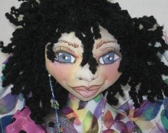 Fairy Art Doll Many Color Petals Cloth Art Doll Faery Sprite Pixie