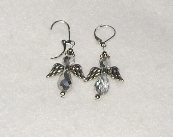 Silver Angel Removable Stitch Markers