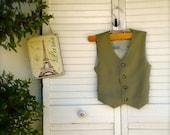 XXL size Olive Green boys  VEST, ringbearer outfit