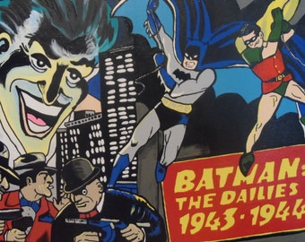 Batman The Dailies 12x16 Acrylic on Canvas Classic Comic Book Super Heroe Dailies