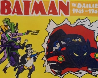 Batman The Dailies II 8x10 Superhero Comic Hand Painted on Canvas