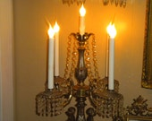 Magnificent Pure Elegance, Large, Heavy, Metal, Marble, Cherub  ,Light up Candelabra, Hollywood Regency,French