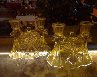 Great Vintage Cut Glass CandleHolders,Set,Home Decor,French Decor,Enertaing Table Decor,Cut Glass
