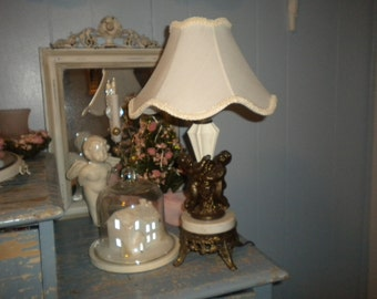 SALE.......Vintage Cherub Lamp, Victorian,French,Shabby Chic,Boudoir