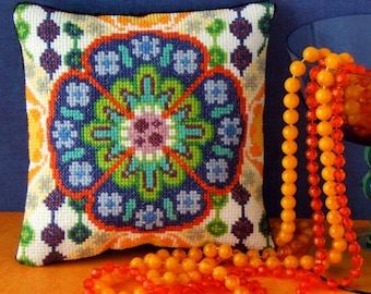 Seventies Style Mini Cushion Cross Stitch Kit
