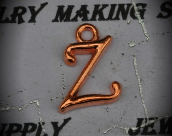 Letter Z Rose Gold Plated Charm