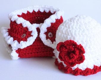 Handmade crochet baby layette / gift set.   Ideal Christening /Christmas / shower /new baby  gift.