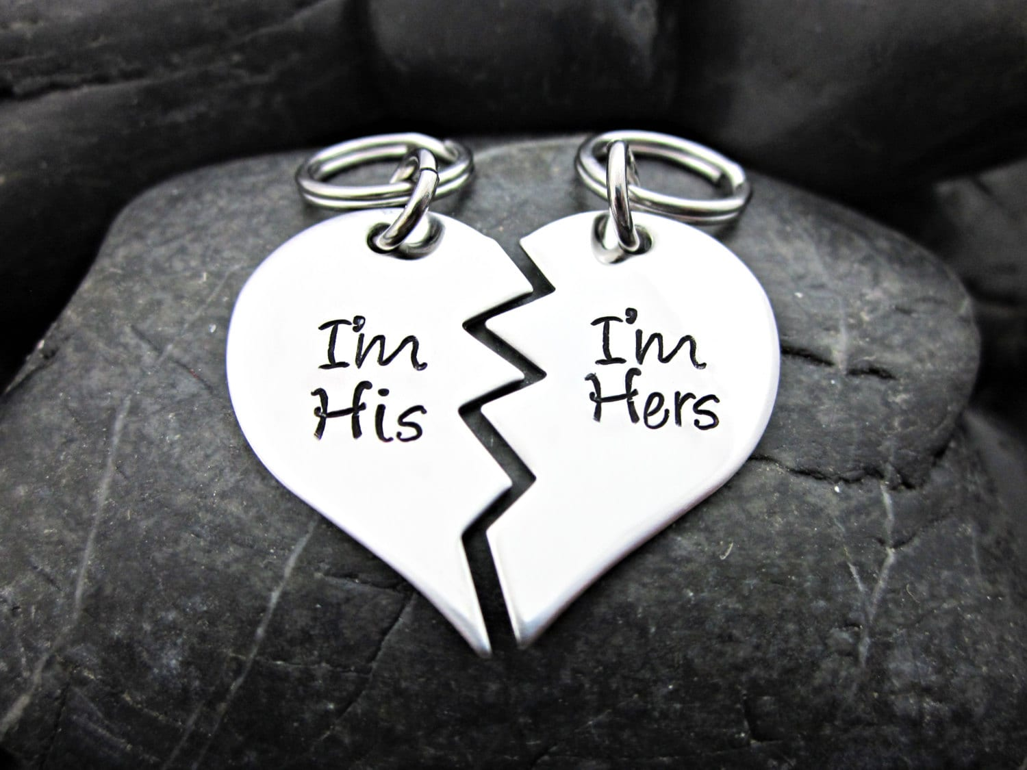 Couple's Keychains Couple's Necklaces His and Hers