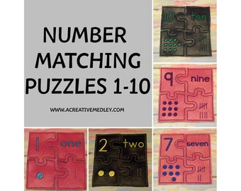 ITH Numbers Matching Puzzles