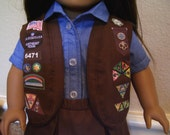 18 Inch Doll Clothes - Brownie Girl Scout Vest