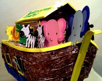 Noah's Ark Babyshower Centerpiece Birthday Centerpiece Animals Giraffes Elephants Doves Lions Alligators Zebras
