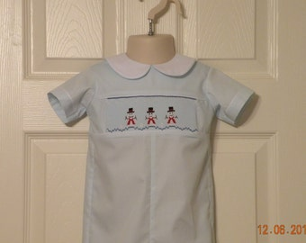 Snowmen Smocked Christmas Outfit