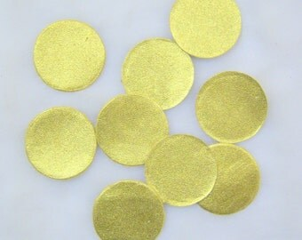 gold leather circles 10 pieces