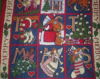 HAND QUILTED Christmas Santa Wall Hanging
