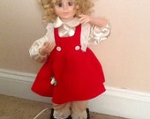 Vintage Animated Christmas Doll Tree Trimmer Girl
