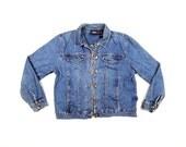 Lady BILLBLASS 90s Faded Blue Denim Lightweight Vintage Jean Jacket // WOmens MEDIUM