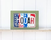 HOOAH - License Plate Art - Army Home decor - gift for Army Retirement - Army graduate - West Point Graduation - gift for Army Veteran