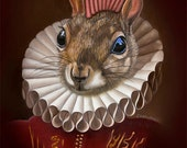 Package of three greeting cards: Mohawk Squirrel. Pop Surrealism Animal Art