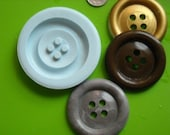 JUMBO Button Flex. silicone push mold Polymer clay resin SUGARCRAFT 2.75inch (70mm) + Gift mold