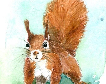 ACEO Limited Edition 3/25- A pause ~ Art Giclee Print of an ACEO original watercolor painting by Anna Lee