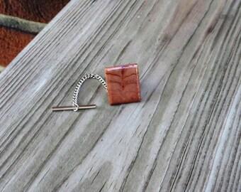 Wood Tie Tack Redwood Burl Handmade