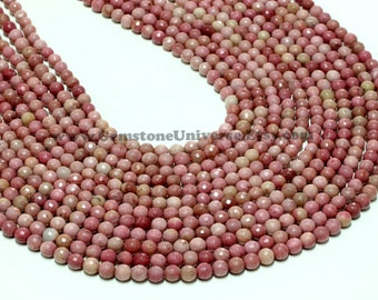 "GUB-2776-1 - Rhodonite Faceted Round Beads - 6mm - 16"" Strand"