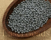 Czech Seed Beads size 11/0 (20g) Opaque Gray Pearl Luster Preciosa Ornela Rocailles NR 293