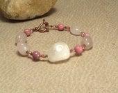 Rose Quartz & Rhodonite Bracelet - Love Romance - Reiki Bracelet Reiki Jewlery