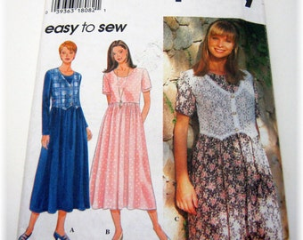 Simplicity 9597 Boho Shabby Chic Dress with or without vest 1996 Pattern