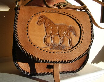 Leather Purse with Horse Design