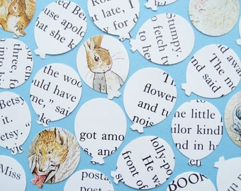 Beatrix Potter Balloon Confetti - Choose from 50 to 400 Balloons - Baby Shower, Birthday Party, Christening, Wedding Table Decor