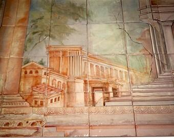 Ceramic Tile Mural      Italian Cityscape