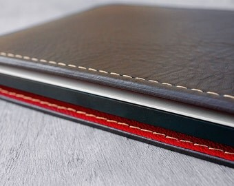 MONOGRAM Napa leather case for Macbook Air 11, Brown & Red, FULL-CASE