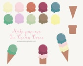 Make your own Ice Cream Cones Clip-art