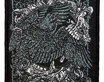 Amorphis Nightbird Song Art Finnish Heavy Metal Band Music Sew On Applique Patch