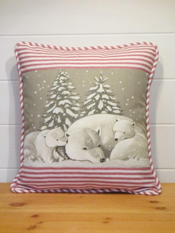 Christmas Pillows Polar Bear Pillow Holiday Pillows Paris