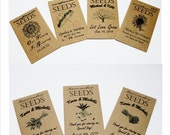 Fall Wedding, Seed Packets, Wildflower Seeds, Spring Wedding, Seed Packet Favors, Seed Packet Wedding, Sunflower Wedding, Seeds 6-12 sets