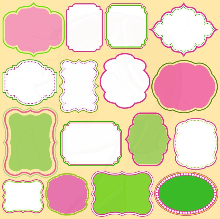 Cute Frame Shapes Clip Art Scrapbook Supply by MayPLDigitalArt
