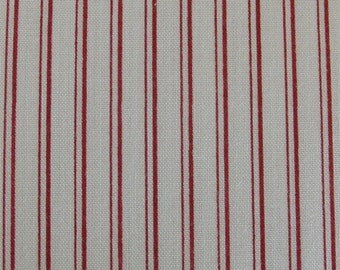 Red and white stripes / Makower / Patchwork quilting fabric