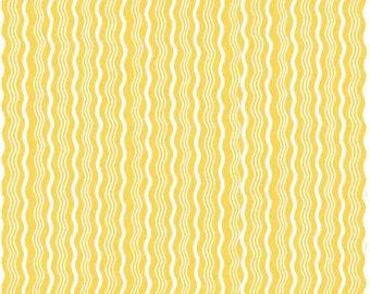 Crimp Yellow - 1 Yard  Cut - Riley Blake Designs - Cotton Fabric - Crimp Fabric - Yellow Fabric